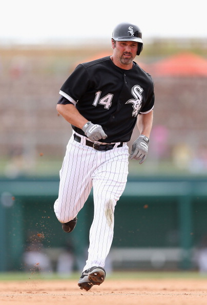 GLENDALE, AZ - MARCH 05:  Paul Konerko #14 of the Chicago White Sox runs to third base during the spring training game against Team USA at Camelback Ranch on March 5, 2013 in Glendale, Arizona.  (Photo by Christian Petersen/Getty Images)