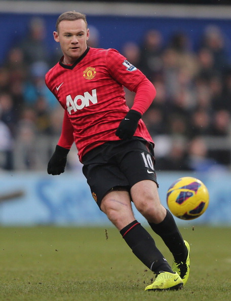 LONDON, ENGLAND - FEBRUARY 23:  Wayne Rooney of Manchester United  during the Barclays Premier League match between Queens Park Rangers and Manchester United at Loftus Road on February 23, 2013 in London, England.  (Photo by Ian Walton/Getty Images)
