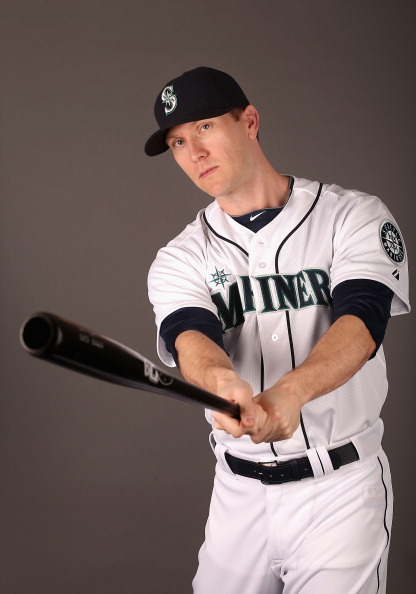 PEORIA, AZ - FEBRUARY 19:  Jason Bay #12 of the Seattle Mariners poses for a portrait during spring training photo day at Peoria Stadium on February 19, 2013 in Peoria, Arizona.  (Photo by Christian Petersen/Getty Images)