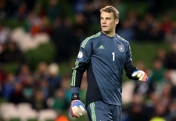 DUBLIN, IRELAND - OCTOBER 12:  Manuel Neuer of Germany during the FIFA 2014 World Cup Qualifier Group C match between Republic of Ireland and Germany at the Aviva Stadium on October 12, 2012 in Dublin, Ireland.  (Photo by Alex Livesey/Getty Images)