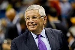 Dec 5, 2012; New Orleans, LA, USA; NBA commissioner David Stern on the court before a game between the New Orleans Hornets and the Los Angeles Lakers at the New Orleans Arena.  Mandatory Credit: Derick E. Hingle-USA TODAY Sports