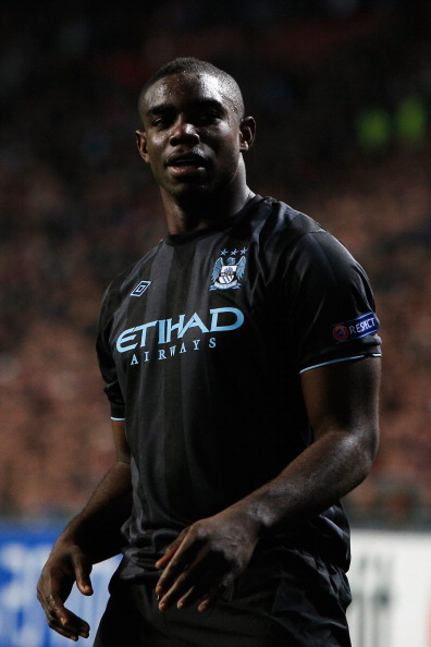 AMSTERDAM, NETHERLANDS - OCTOBER 24:  Micah Richards of Manchester City look on during the Group D UEFA Champions League match between AFC Ajax and Manchester City FC at Amsterdam ArenA on October 24, 2012 in Amsterdam, Netherlands.  (Photo by Dean Mouhtaropoulos/Getty Images)