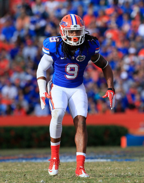 GAINESVILLE, FL - NOVEMBER 17:  Josh Evans #9 of the Florida Gators during the game against the Jacksonville State Gamecocks at Ben Hill Griffin Stadium on November 17, 2012 in Gainesville, Florida.  (Photo by Sam Greenwood/Getty Images)