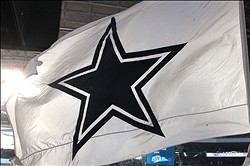Oct 28, 2012; Arlington, TX, USA; Dallas Cowboys flag on the field during the game against the New York Giants at Cowboys Stadium. The Giants beat the Cowboys 29-24. Mandatory Credit: Tim Heitman-USA TODAY Sports