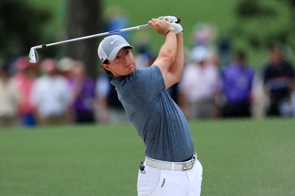 AUGUSTA, GA - APRIL 14:  Rory McIlroy of Northern Ireland hits a shot on the first hole during the final round of the 2013 Masters Tournament at Augusta National Golf Club on April 14, 2013 in Augusta, Georgia.  (Photo by David Cannon/Getty Images)