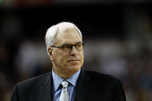 SACRAMENTO, CA - NOVEMBER 03:  Head coach Phil Jackson of the Los Angeles Lakers coaches his team against the Sacramento Kings at ARCO Arena on November 3, 2010 in Sacramento, California.  NOTE TO USER: User expressly acknowledges and agrees that, by downloading and or using this photograph, User is consenting to the terms and conditions of the Getty Images License Agreement.  (Photo by Ezra Shaw/Getty Images)
