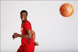 April 3, 2013; Chicago, IL, USA;  McDonald's All American forward Andrew Wiggins (22) poses for portraits before the 36th McDonalds All American Games to be played at the United Center. Mandatory Credit: Brian Spurlock-USA TODAY Sports