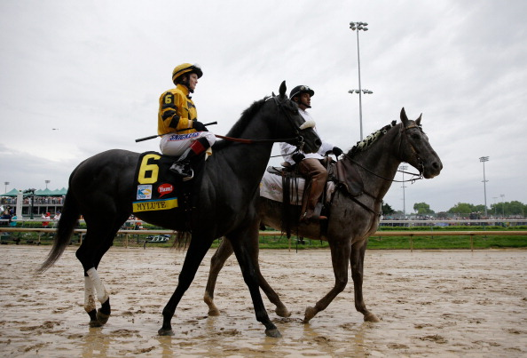 LOUISVILLE, KY - MAY 04: Jockey Rosie Napravnik sits aboard Mylute in the post parade before the start of the 139th running of the Kentucky Derby at Churchill Downs on May 4, 2013 in Louisville, Kentucky.  (Photo by Rob Carr/Getty Images)
