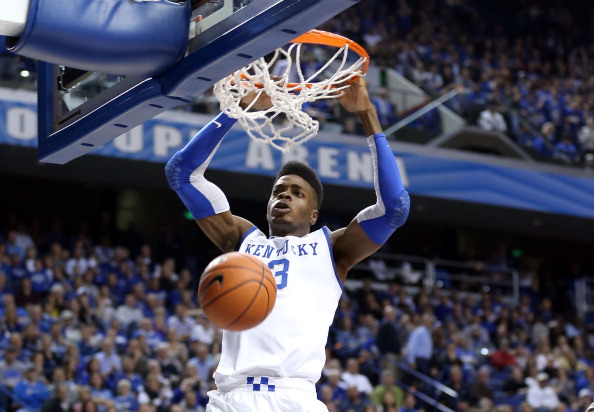 LEXINGTON, KY - DECEMBER 04:  Nerlens Noel #3 of the Kentucky Wildcats dunks the ball during the game against the Samford Bulldogs at Rupp Arena on December 4, 2012 in Lexington, Kentucky.  (Photo by Andy Lyons/Getty Images)