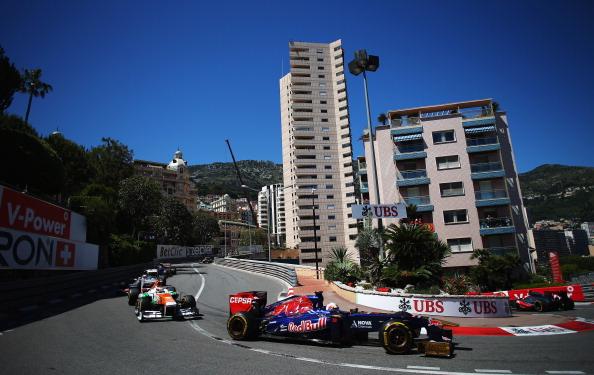 MONTE-CARLO, MONACO - MAY 26:  Jean-Eric Vergne of France and Scuderia Toro Rosso drives during the Monaco Formula One Grand Prix at the Circuit de Monaco on May 26, 2013 in Monte-Carlo, Monaco.  (Photo by Bryn Lennon/Getty Images)