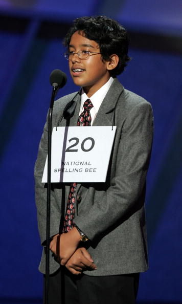 HOLLYWOOD - JULY 13:  Spelling Bee Champion Anurag Kashyap onstage at the 13th Annual ESPY Awards at the Kodak Theatre on July 13, 2005 in Hollywood, California.  (Photo by Kevin Winter/Getty Images)
