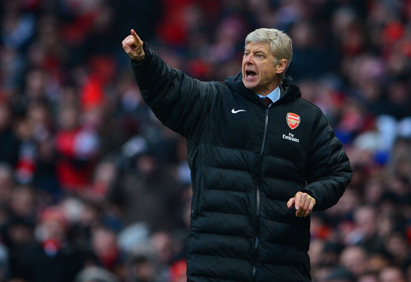 LONDON, ENGLAND - FEBRUARY 23:  Arsenal manager Arsene Wenger gestures during the Barclays Premier League match between Arsenal and Aston Villa at the Emirates Stadium on February 23, 2013 in London, England.  (Photo by Michael Regan/Getty Images)
