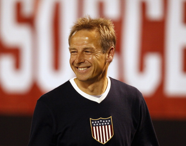 CLEVELAND, OH - MAY 29:  Head coach Jurgen Klinsmann of the U.S. Mens National Team smiles after their International Friendly match against Belgium at FirstEnergy Stadium on May 29, 2013 in Cleveland, Ohio.  (Photo by Matt Sullivan/Getty Images)