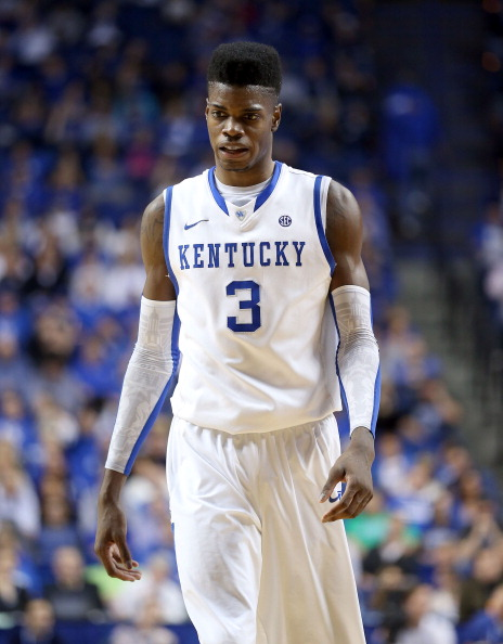 LEXINGTON, KY - FEBRUARY 09:  Nerlens Noel #3 of the Kentucky Wildcats walks down the court during the game against the Auburn Tigers at Rupp Arena on February 9, 2013 in Lexington, Kentucky.  (Photo by Andy Lyons/Getty Images)