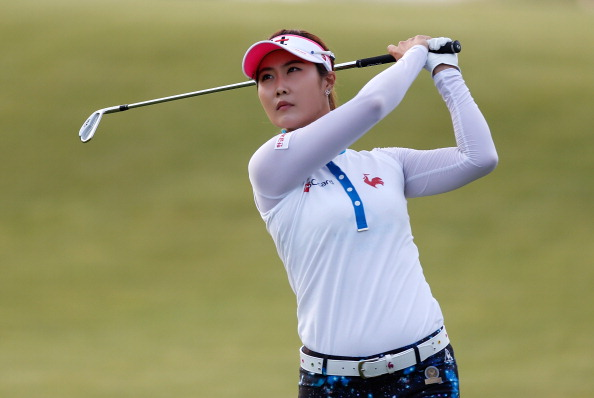 SOUTHAMPTON, NY - JUNE 27: Ha-Neul Kim from South Korea watches her tee shot on the third hole during the first round of the 2013 U.S. Women's Open at Sebonack Golf Club on June 27, 2013 in Southampton, New York.  (Photo by Gregory Shamus/Getty Images)