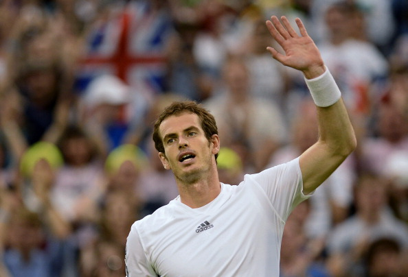 LONDON, ENGLAND - JUNE 28:  Andy Murray of Great Britain celebrates victory during his Gentlemen's Singles third round match against Tommy Robredo of Spain on day five of the Wimbledon Lawn Tennis Championships at the All England Lawn Tennis and Croquet Club on June 28, 2013 in London, England.  (Photo by Dennis Grombkowski/Getty Images)