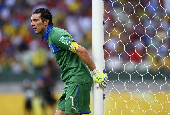 FORTALEZA, BRAZIL - JUNE 27:  Gianluigi Buffon of Italy looks on during the FIFA Confederations Cup Brazil 2013 Semi Final match between Spain and Italy at Castelao on June 27, 2013 in Fortaleza, Brazil.  (Photo by Clive Mason/Getty Images)