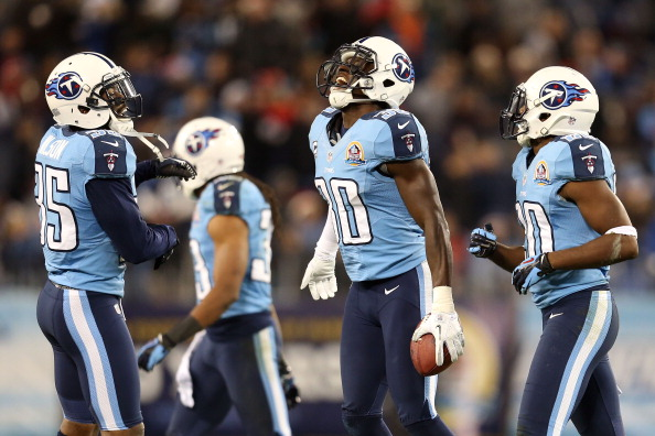 NASHVILLE, TN - DECEMBER 17:  Cornerback Jason McCourty #30 of the Tennessee Titans celebrates after an interception against quarterback Mark Sanchez #6 of the New York Jets at LP Field on December 17, 2012 in Nashville, Tennessee.  (Photo by Andy Lyons/Getty Images)