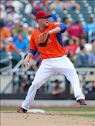 Jul 14, 2013; Flushing , NY, USA; USA pitcher Archie Bradley throws a pitch in the 3rd inning of the 2013 All Star Futures Game at Citi Field. Mandatory Credit: Brad Penner-USA TODAY Sports