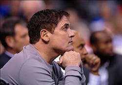 Jan 12, 2013; Dallas, TX, USA; Dallas Mavericks owner Mark Cuban watches the Mavericks take on the Memphis Grizzlies at the American Airlines Center. The Mavericks defeated the Grizzlies 104-83. Mandatory Credit: Jerome Miron-USA TODAY Sports