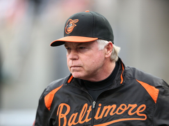 DETROIT, MI - JUNE 17:  Manager Buck Showalter #36 Baltimore Orioles watches the action from the dugout during the game against the Detroit Tigers at Comerica Park on June 17, 2013 in Detroit, Michigan.  (Photo by Leon Halip/Getty Images)