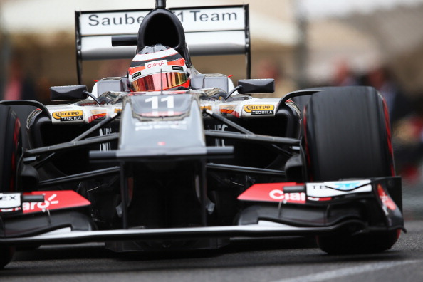 MONTE-CARLO, MONACO - MAY 25:  Nico Hulkenberg of Germany and Sauber F1 drives during qualifying for the Monaco Formula One Grand Prix at the Circuit de Monaco on May 25, 2013 in Monte-Carlo, Monaco.  (Photo by Clive Mason/Getty Images)
