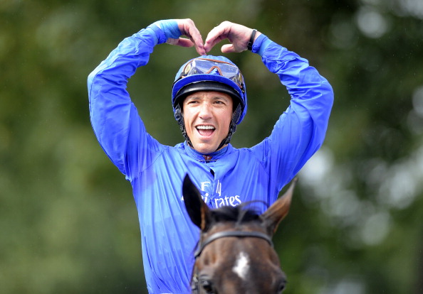 YORK, ENGLAND - AUGUST 25:   Frankie Dettori riding Willing Foe win The Betfred Ebor at York racecourse on August 25, 2012 in York, England. (Photo by Alan Crowhurst/Getty Images)
