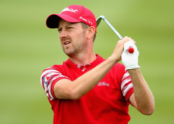 NEWPORT, WALES - AUGUST 30:  Liam Bond of Wales in action during the second round of the ISPS Handa Wales Open on the Twenty Ten course at The Celtic Manor Resort on August 30, 2013 in Newport, Wales.  (Photo by Andrew Redington/Getty Images)