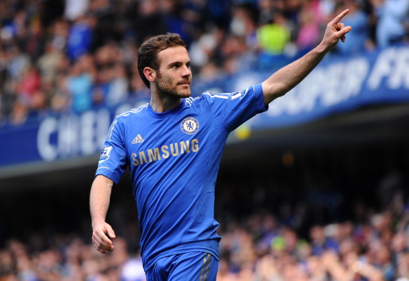 LONDON, ENGLAND - MAY 19:  Juan Mata of Chelsea celebrates scoring the opening goal during the Barclays Premier League match between Chelsea and Everton at Stamford Bridge on May 19, 2013 in London, England.  (Photo by Mike Hewitt/Getty Images)