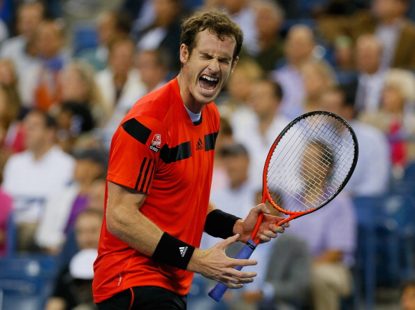 NEW YORK, NY - SEPTEMBER 03:  Andy Murray of Great Britain celebrates reacts during his men's singles fourth round match against Denis Istomin of Uzbekistan  on Day Nine of the 2013 US Open at the USTA Billie Jean King National Tennis Center on September 3, 2013 in New York City.  (Photo by Mike Stobe/Getty Images for the USTA)