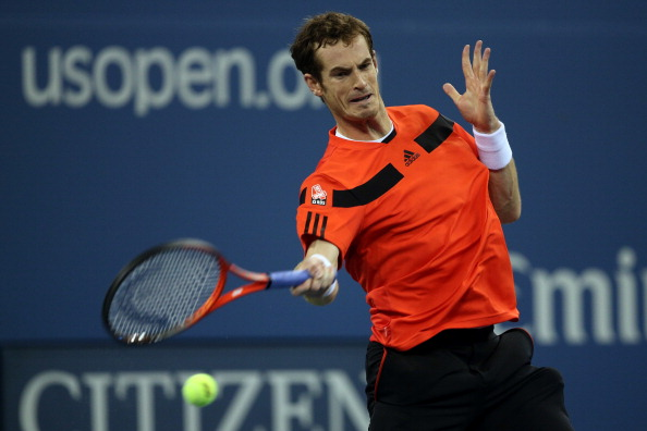 NEW YORK, NY - SEPTEMBER 03:  Andy Murray of Great Britain returns a forehand during his men's singles fourth round match against Denis Istomin of Uzbekistan on Day Nine of the 2013 US Open at USTA Billie Jean King National Tennis Center on September 3, 2013 in the Flushing neighborhood of the Queens borough of New York City.  (Photo by Clive Brunskill/Getty Images)