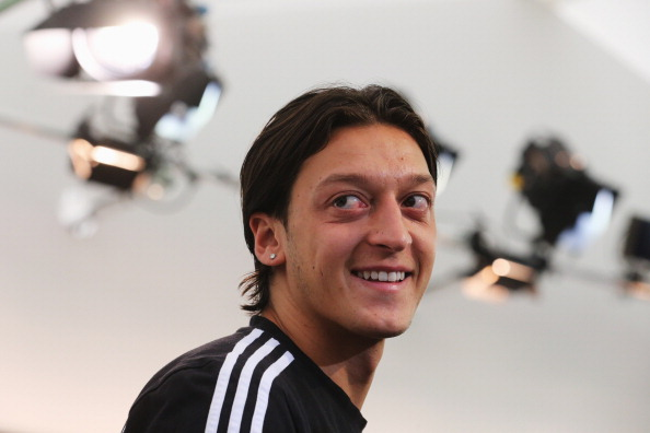 GDANSK, POLAND - JUNE 25:  Mesut Oezil of Germany attends a press conference ahead of their UEFA EURO 2012 semi-final match against Italy at the Germany press centre  on June 25, 2012 in Gdansk, Poland.  (Photo by Joern Pollex/Getty Images)