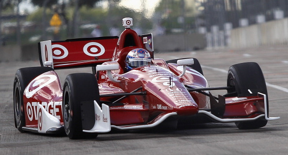 HOUSTON, TX - OCTOBER 05:  Scott Dixon, of New Zealand, driver of the #9 Target Chip Ganassi Racing Chevrolet Dallara drives during qualifying  for the IZOD IndyCar Series Shell and Pennzoil Grand Prix Of Houstonat Reliant Park on October 5, 2013 in Houston, Texas.  (Photo by Bob Levey/Getty Images)