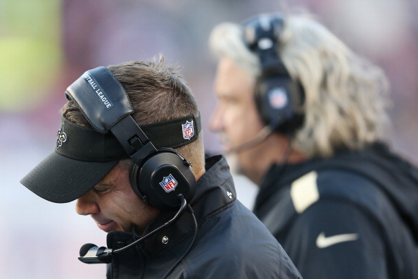 FOXBORO, MA - OCTOBER 13:  Head coach Sean Payton of the New Orleans Saints looks on from the sidelines during the first half of the Saints 30-27 loss to the New England Patriots at Gillette Stadium on October 13, 2013 in Foxboro, Massachusetts.  (Photo by Rob Carr/Getty Images)