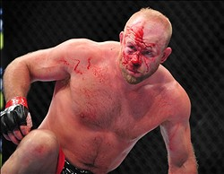 Dec 29, 2012; Las Vegas, NV, USA; Tim Boetsch during UFC 155 at the MGM Grand Garden Arena. Mandatory Credit: Gary A. Vasquez-USA TODAY Sports