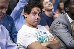 Oct 14, 2013; Dallas, TX, USA; Dallas Mavericks owner Mark Cuban watches his team take on the Orlando Magic during the first half at American Airlines Center. Mandatory Credit: Jerome Miron-USA TODAY Sports