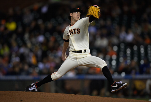 SAN FRANCISCO, CA - SEPTEMBER 26:  Tim Lincecum #55 of the San Francisco Giants pitches against the Los Angeles Dodgers at AT&T Park on September 26, 2013 in San Francisco, California.  (Photo by Thearon W. Henderson/Getty Images)
