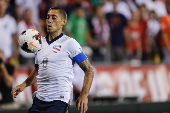 COLUMBUS, OH - SEPTEMBER 10: Clint Dempsey #8 of the United States Men's National Team in action against Mexico at Columbus Crew Stadium on September 10, 2013 in Columbus, Ohio. (Photo by Jamie Sabau/Getty Images)