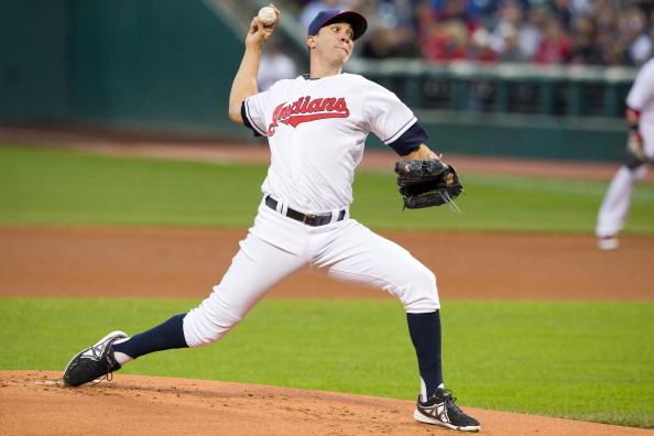CLEVELAND, OH - SEPTEMBER 24: Starting pitcher Ubaldo Jimenez