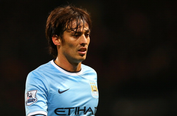 MANCHESTER, ENGLAND - DECEMBER 26:  David Silva of Manchester City during the Barclays Premier League match between Manchester City and Liverpool at Etihad Stadium on December 26, 2013 in Manchester, England.  (Photo by Alex Livesey/Getty Images)