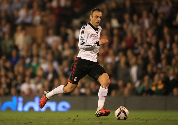 LONDON, ENGLAND - SEPTEMBER 24:  Dimitar Berbatov of Fulham in action during the Captial One Cup Third Round match between Fulham and Everton at Craven Cottage on September 24, 2013 in London, England.  (Photo by Richard Heathcote/Getty Images)