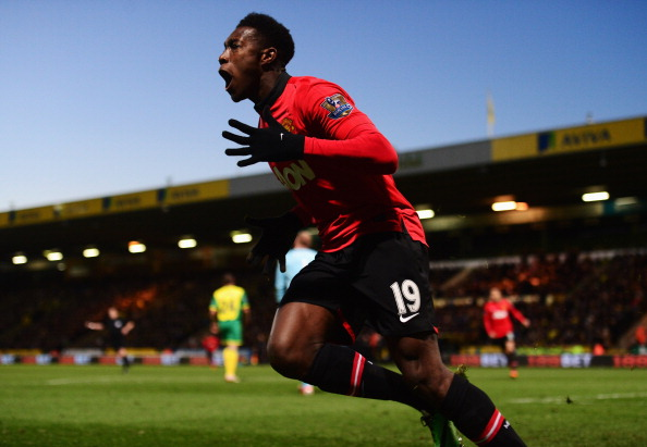 NORWICH, ENGLAND - DECEMBER 28:  Danny Welbeck of Manchester United celebrates as he scores their first goal during the Barclays Premier League match between Norwich City and  Manchester United at Carrow Road on December 28, 2013 in Norwich, England.  (Photo by Jamie McDonald/Getty Images)