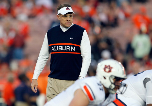 PASADENA, CA - JANUARY 06:  Auburn Tigers head coach Gus Malzahn stands on the field prior to the 2014 Vizio BCS National Championship Game against the Florida State Seminoles at the Rose Bowl on January 6, 2014 in Pasadena, California.  (Photo by Kevin C. Cox/Getty Images)