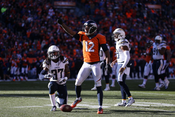 DENVER, CO - JANUARY 12:  Andre Caldwell