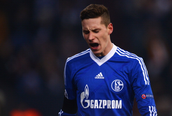 GELSENKIRCHEN, GERMANY - MARCH 12:  Julian Draxler of Schalke looks dejected during the UEFA Champions League round of 16 second leg match between FC Schalke 04 and Galatasaray AS at Veltins-Arena on March 12, 2013 in Gelsenkirchen, Germany.  (Photo by Lars Baron/Getty Images)