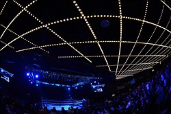 Jan 25, 2014; New York, NY, USA; A general view of the ring before the Mikey Garcia vs. Juan Carlos Burgos WBO Junior Lightweight Title bout bout at The Theater at Madison Square Garden. Mandatory Credit: Joe Camporeale-USA TODAY Sports