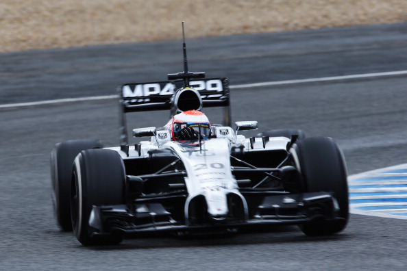 JEREZ DE LA FRONTERA, SPAIN - JANUARY 31:  Kevin Magnussen of Denmark and McLaren drives during day four of Formula One Winter Testing at the Circuito de Jerez on January 31, 2014 in Jerez de la Frontera, Spain.  (Photo by Mark Thompson/Getty Images)