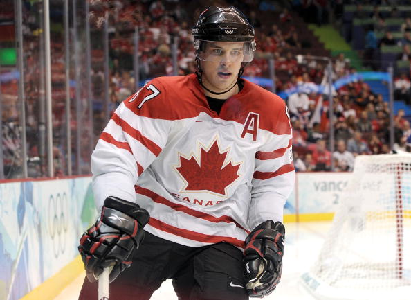 VANCOUVER, BC - FEBRUARY 26: Sidney Crosby #87 of Canada is seen during the ice hockey men's semifinal game between the Canada and Slovakia on day 15 of the Vancouver 2010 Winter Olympics at Canada Hockey Place on February 26, 2010 in Vancouver, Canada.  (Photo by Harry How/Getty Images)