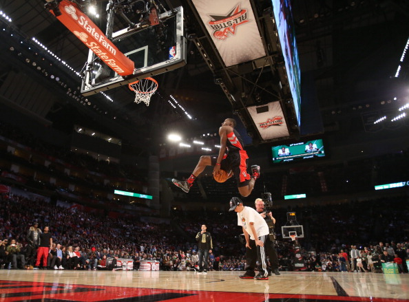 HOUSTON, TX - FEBRUARY 16: Terrence Ross #31 of the Toronto Raptors during the 2013 Sprite Slam Dunk Contest on State Farm All-Star Saturday Night as part of the 2013 NBA All-Star Weekend on February 16, 2013 at the Toyota Center in Houston, Texas. NOTE TO USER: User expressly acknowledges and agrees that, by downloading and or using this photograph, User is consenting to the terms and conditions of the Getty Images License Agreement. Mandatory Copyright Notice: Copyright 2013 NBAE (Photo by Nathaniel S. Butler/NBAE via Getty Images)