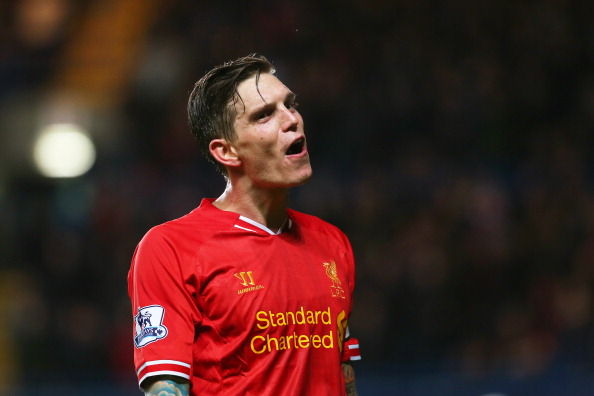 LONDON, ENGLAND - DECEMBER 29:  Daniel Agger of Liverpool reacts during the Barclays Premier League match between Chelsea and Liverpool at Stamford Bridge on December 29, 2013 in London, England.  (Photo by Julian Finney/Getty Images)